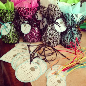 gift bags and tags