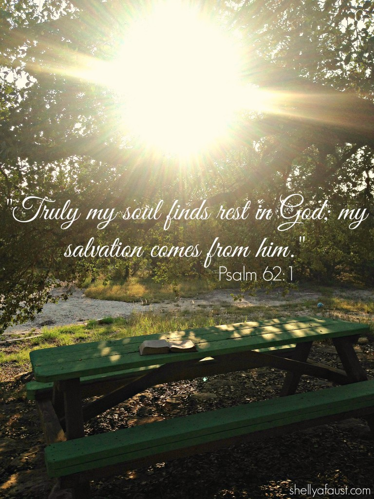Psalm 62 1 picnic table