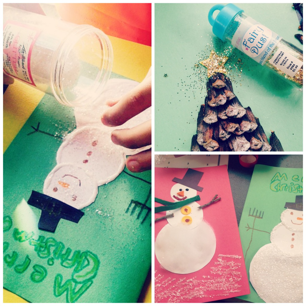 Homemade Christmas card craft1
