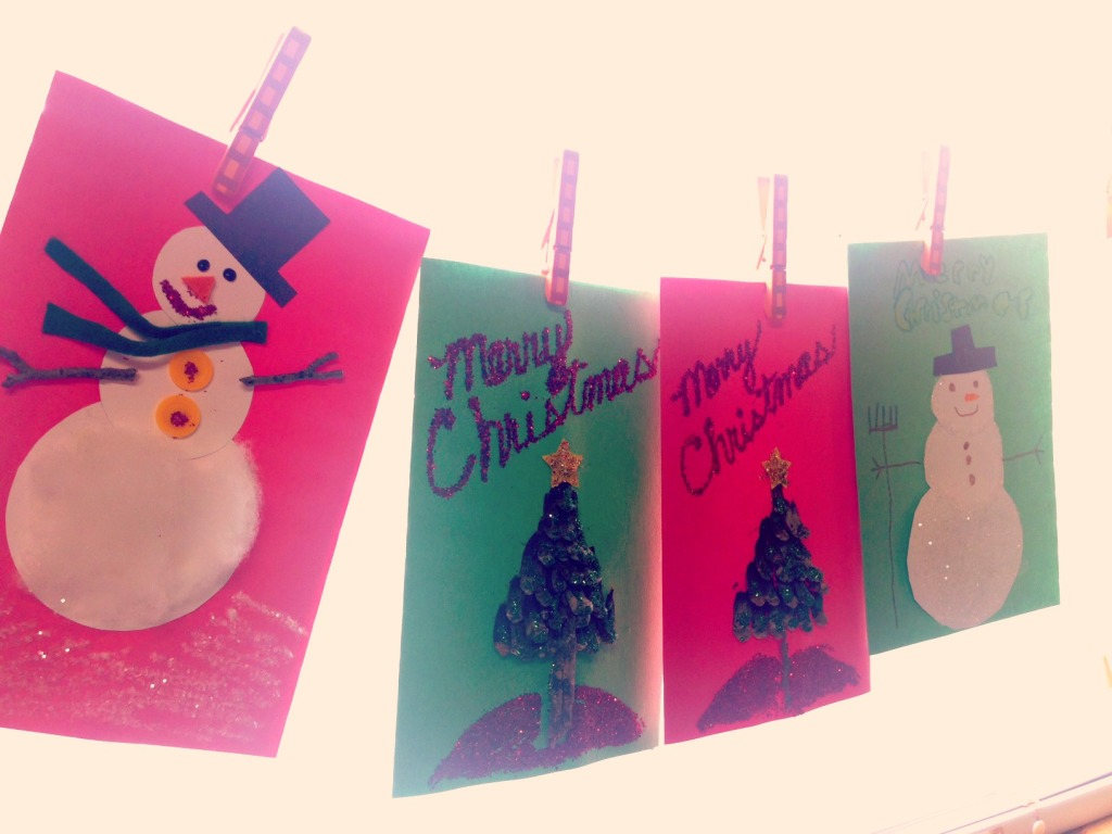 Homemade Christmas card craft2