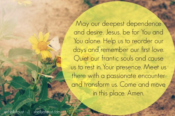 Prayer - busyness