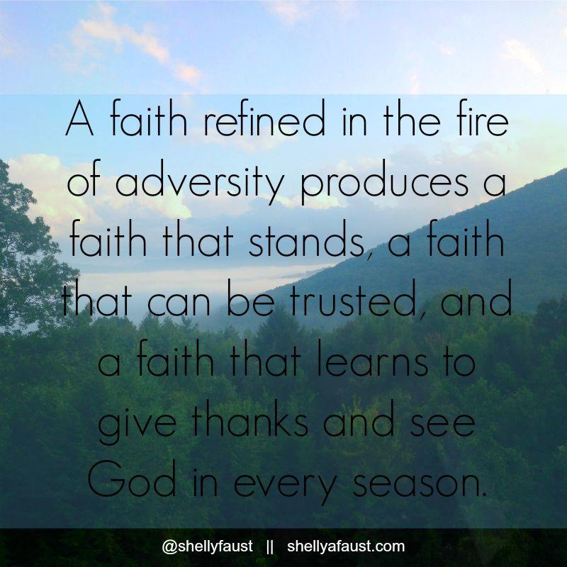 A faith refined in the fire
