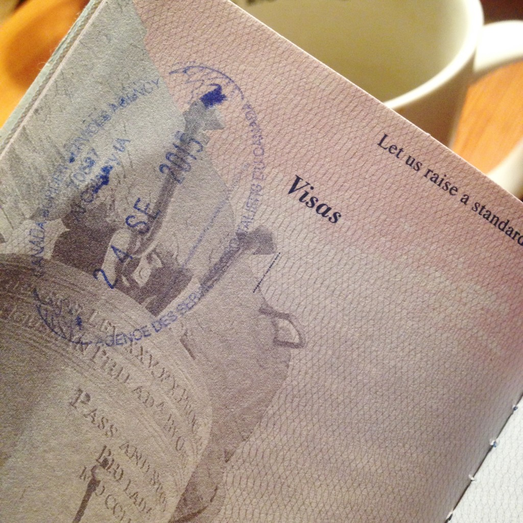 First Passport stamp