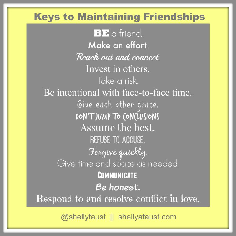 Keys to Maintaining Friendships